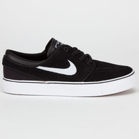 Nike Sb Stefan Janoski Boys Shoes Black/White/Gum Medium Brown  In Sizes