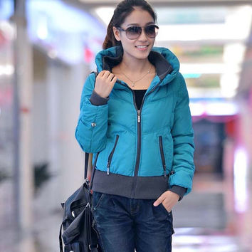 Women's Slim Fit Solid Color Long Sleeve Short Coat Outwear - Available 2 Great Colors!