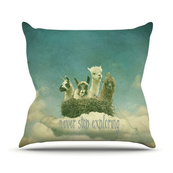 "Monika Strigel ""Never Stop Exploring"" Throw Pillow"