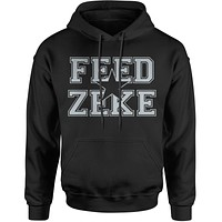 Feed Zeke Dallas Football  Adult Hoodie Sweatshirt