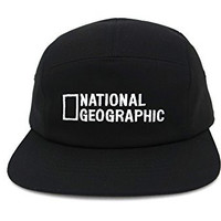 Black National Geographic Cap Camp Snapback Hat