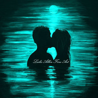 Couple Painting Couple In Water Kissing Art by LeslieAllenFineArt