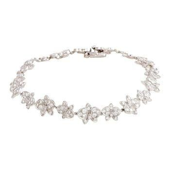 Cartier Caresse d'Orchidees Diamond White Gold Bracelet