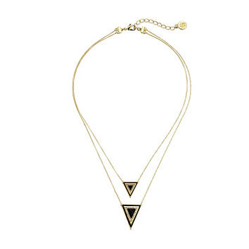 House of Harlow 1960 Teepee Triangle Necklace Gold Tone/Black - Zappos.com Free Shipping BOTH Ways