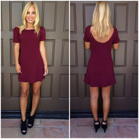 Morgan Skater Dress - BURGUNDY