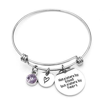 Angels Draw Home Best Friends Bracelet Not Sisters By Blood But Sisters By Heart Charm Bracelet Graduation GiftSister Friend Jewelry