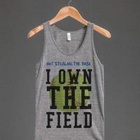 Vintage fit American made Softball not Stealing own the field tank top t-shirt tee