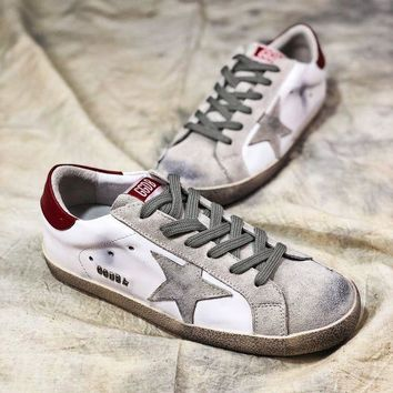 VON3TL Ggdb Golden Goose Uomo Donna White Grey Star G36d121.s2 Old Dirty Shoes