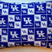 Travel Pillow Case  University of Kentucky by Blessedbyarose