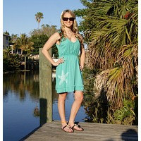 Shore Side Starfish V-Neck Dress