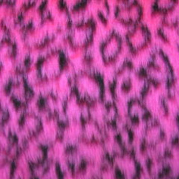 Fuzzy Pink Leopard faux fur car steering wheel cover cute animal print furry fluffy and wild