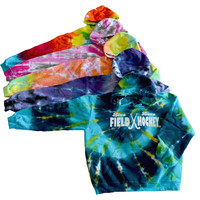 "Field Hockey Tie Dye Sweatshirt - ""Live Love"" Logo"
