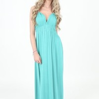 Turquoise Maxi Dress | Ladies Maxi Dresses | OMG Fashion
