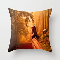 Early Morning Song.. Throw Pillow by YvetteCheri-DigiArt
