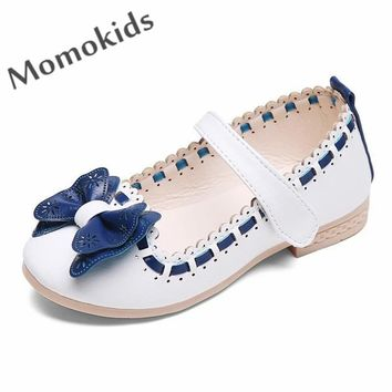 2016 spring autumn new child leather shoes for girls sandals shoes flat with fashion baby shoes baby infant princess shoes