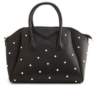 STUDDED FAUX LEATHER BAG