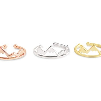 Mountain Ring - Gold, Rose Gold and Silver