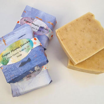 Beer Soap, Citrus Soap, Essential Oil Soap, Gift for Him, Men's Soap, Soap Gift, Handcrafted Soap, Gift For Dad, Moisturizing, Rustic Soap