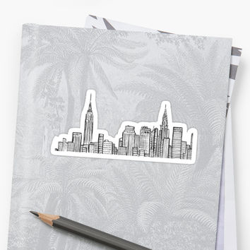 'City skyline' Sticker by hcross214