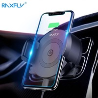 RAXFLY Car Qi Wireless Charger For iPhone X 8 8 Plus 360 Rotation Air Vent Phone Charger Holder For Samsung Note 8 S8 Plus S7 S6