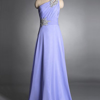 Cheap A Line Affordable Chiffon Lavender prom dresses