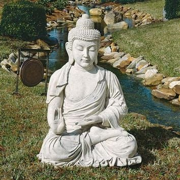 SheilaShrubs.com: Giant Buddha Monument-Sized Garden Sculpture NE22724 by Design Toscano: Garden Sculptures & Statues