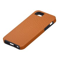 Orange faux leather texture iPhone 5 cover