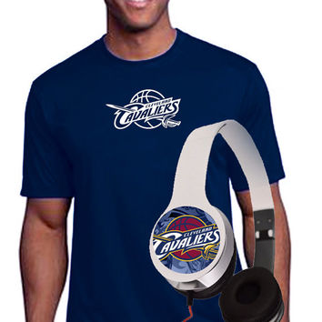 Cleveland Cavs Headphones  & T shirt