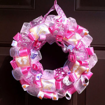 Baby Wreath Shower Gift or Hospital Door It's a Girl