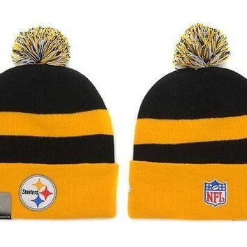 ESB8KY Pittsburgh Steelers Beanies New Era NFL Football Cap