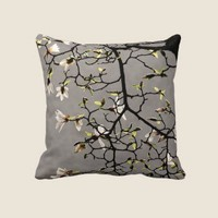 Magnolia Blossoms Pillow from Zazzle.com