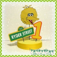 Big Bird Centerpiece Personalized Name and Age - Sesame Street