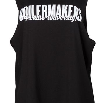 Official NCAA Purdue University Boilermakers Purdue Pete Women's Modal Muscle Tee