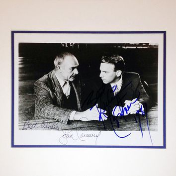 FRAMED 8X10 PHOTO, SIGNED BY SEAN CONNERY & KEVIN COSTNER