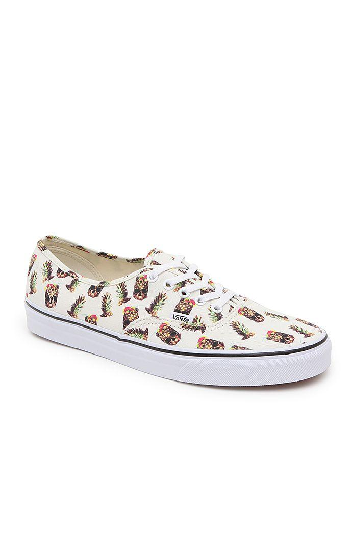 db08d05e26db79 Vans Authentic Drained   Confused Shoes - Mens Shoes - White