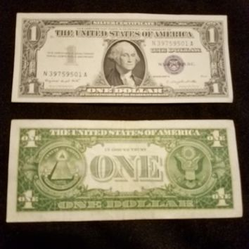 1 Dollar Blue Seal/Silver certificate