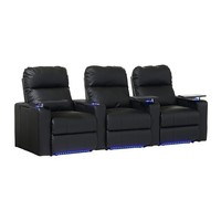 Octane Seating - Turbo XL700 3-Piece Home Theater Seating - Black