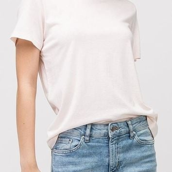 Sam Curve Cotton Modal Tee in Off White