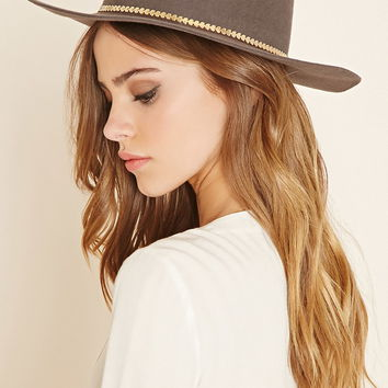 Metal Trim Wool Fedora