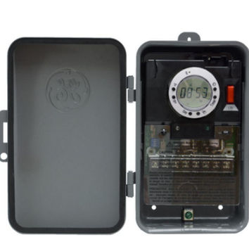 7 Day Digital Outdoor Box Timer and On/Off Per Day Lockable Weatherproof