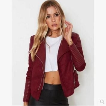 PEAPIH3 §ܧà§æ§ä§Ñ §á§?էاѧÜ §ا֧ß Female jacket coat women jacket coat Burgundy