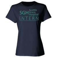 Grey's Anatomy SGH Seattle Grace Hospital Intern - Ladies' Cotton T-Shirt