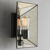 Faceted Mirror Sconce