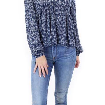 BCBGeneration   floral printed lace up blouse