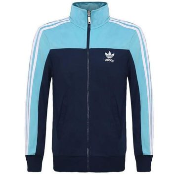Adidas Multicolor Cardigan Jacket Coat Windbreaker Sportswear