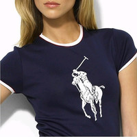 Ralph Lauren   Casual Round Neck Short Shirt Tee Top Sweatshirt
