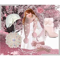 Pink, pearls and scarves