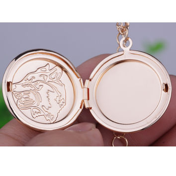 Wolf Totem Photo Frame Pendant Necklace - Free + Shipping
