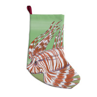 "Catherine Holcombe ""Fish Manchu"" Christmas Stocking"