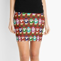 'Christmas Nutcracker Soldiers' Mini Skirt by Gravityx9